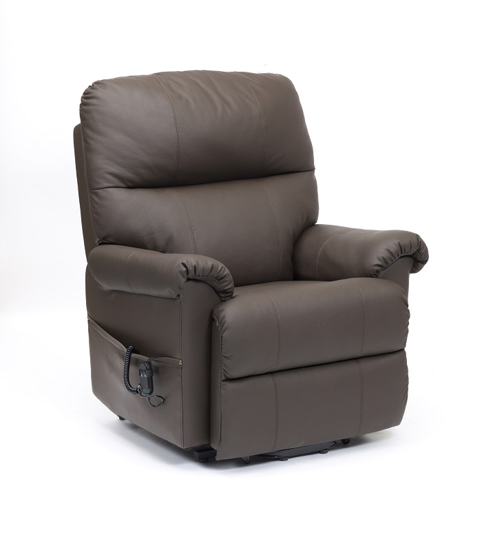 Borg Leather Rise Amp Recline Chair